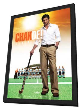 Chak De India - 27 x 40 Movie Poster - German Style A - in Deluxe Wood Frame