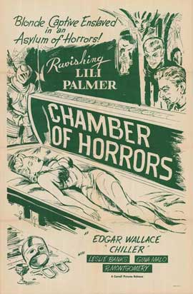 Chamber of Horrors - 27 x 40 Movie Poster - Style A