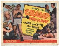 Champ For A Day - 11 x 14 Movie Poster - Style A
