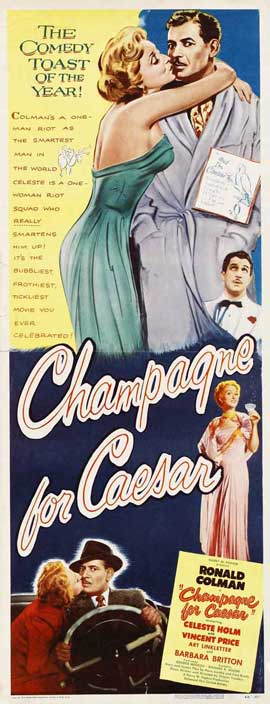 Champagne for Caesar Champagne for Caesar - 14 x 36 Movie Poster - Insert Style A
