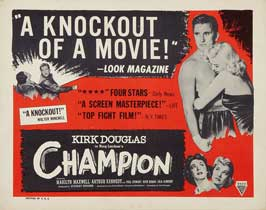 Champion - 22 x 28 Movie Poster - Half Sheet Style A