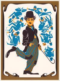 Charlie Chaplin - Art Print - 20.5 x 28 - Elaine Hanelock Style A