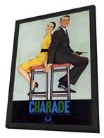 Charade - 11 x 17 Movie Poster - Style J - in Deluxe Wood Frame
