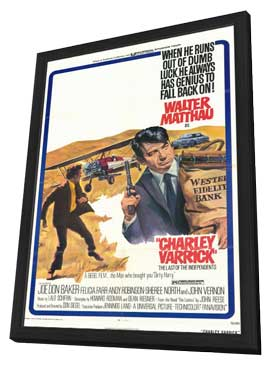 Charley Varrick - 11 x 17 Movie Poster - Style A - in Deluxe Wood Frame