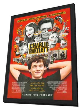 Charlie Bartlett - 11 x 17 Movie Poster - Style D - in Deluxe Wood Frame