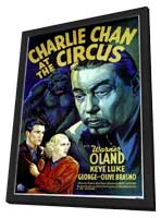 Charlie Chan At The Circus - 11 x 17 Movie Poster - Style A - in Deluxe Wood Frame