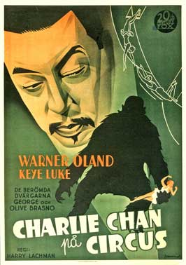 Charlie Chan At The Circus - 11 x 17 Movie Poster - Swedish Style A