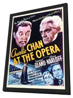 Charlie Chan at the Opera - 11 x 17 Movie Poster - Style A - in Deluxe Wood Frame