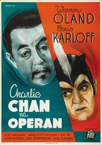 Charlie Chan at the Opera - 43 x 62 Movie Poster - Swedish Style A