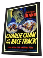 Charlie Chan at the Race Track - 11 x 17 Movie Poster - Style A - in Deluxe Wood Frame