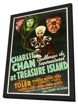 Charlie Chan at Treasure Island - 11 x 17 Movie Poster - Style A - in Deluxe Wood Frame
