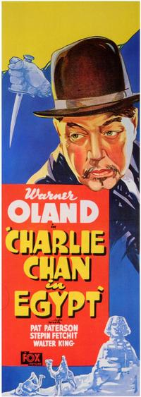 Charlie Chan in Egypt - 43 x 62 Movie Poster - Bus Shelter Style A