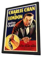 Charlie Chan in London - 11 x 17 Movie Poster - Style A - in Deluxe Wood Frame