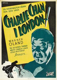 Charlie Chan in London - 27 x 40 Movie Poster - Swedish Style A