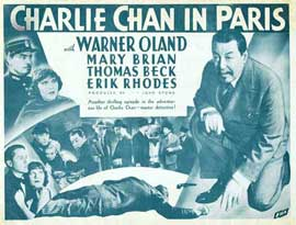 Charlie Chan in Paris - 22 x 28 Movie Poster - Half Sheet Style A