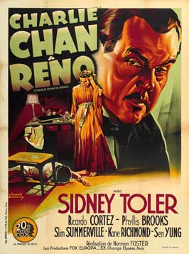 Charlie Chan in Reno - 27 x 40 Movie Poster - French Style A