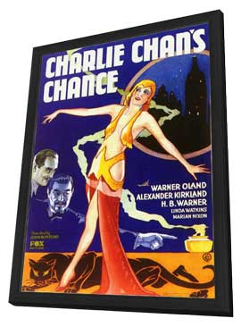 Charlie Chan's Chance - 11 x 17 Movie Poster - Style C - in Deluxe Wood Frame