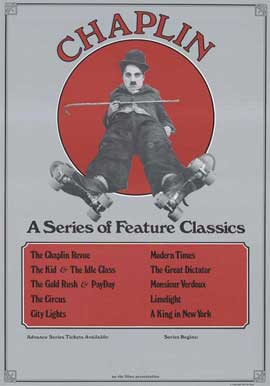 Charlie Chaplin: A Series of Feature Classics - 27 x 40 Movie Poster - Style A