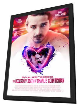 Charlie Countryman - 11 x 17 Movie Poster - Style B - in Deluxe Wood Frame