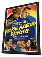 Charlie McCarthy, Detective - 27 x 40 Movie Poster - Style A - in Deluxe Wood Frame