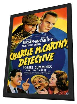 Charlie McCarthy, Detective - 11 x 17 Movie Poster - Style A - in Deluxe Wood Frame