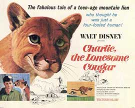 Charlie, the Lonesome Cougar - 11 x 14 Movie Poster - Style A