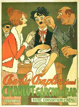 Charlie the Waiter - 11 x 17 Movie Poster - French Style A