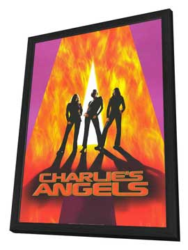 Charlie's Angels - 27 x 40 Movie Poster - Style A - in Deluxe Wood Frame