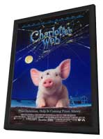 Charlotte's Web - 27 x 40 Movie Poster - Style B - in Deluxe Wood Frame