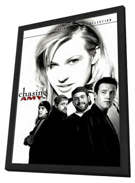 Chasing Amy - 11 x 17 Movie Poster - Style D - in Deluxe Wood Frame