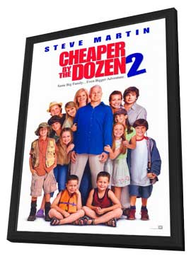Cheaper By the Dozen 2 - 27 x 40 Movie Poster - Style A - in Deluxe Wood Frame