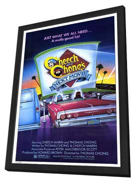 Cheech and Chong's Next Movie - 11 x 17 Movie Poster - Style A - in Deluxe Wood Frame