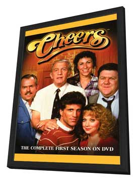 Cheers - 27 x 40 TV Poster - Style A - in Deluxe Wood Frame