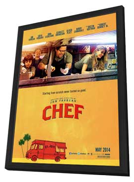 Chef - 11 x 17 Movie Poster - Style A - in Deluxe Wood Frame