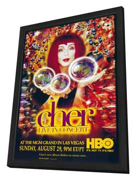 Cher: Live in Concert - 11 x 17 TV Poster - Style A - in Deluxe Wood Frame