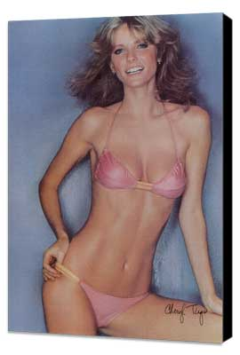 Cheryl Tiegs - 11 x 17 Movie Poster - Style A - Museum Wrapped Canvas
