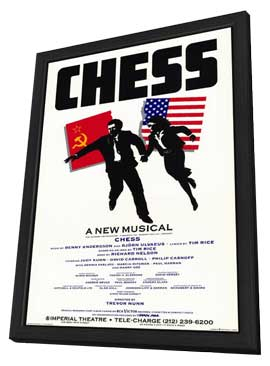 Chess (Broadway) - 11 x 17 Poster - Style A - in Deluxe Wood Frame