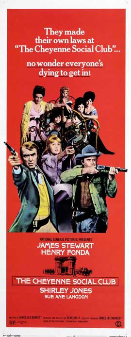 The Cheyenne Social Club - 14 x 36 Movie Poster - Insert Style A