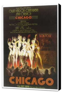Chicago (Broadway) - 11 x 17 Poster - Style A - Museum Wrapped Canvas