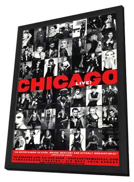 Chicago (Broadway) - 11 x 17 Poster - Style B - in Deluxe Wood Frame