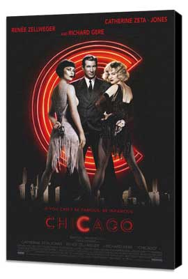 Chicago - 11 x 17 Movie Poster - Style A - Museum Wrapped Canvas