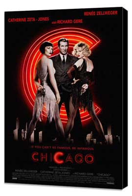 Chicago - 27 x 40 Movie Poster - Style A - Museum Wrapped Canvas