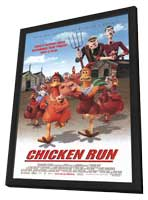 Chicken Run - 11 x 17 Movie Poster - Style A - in Deluxe Wood Frame