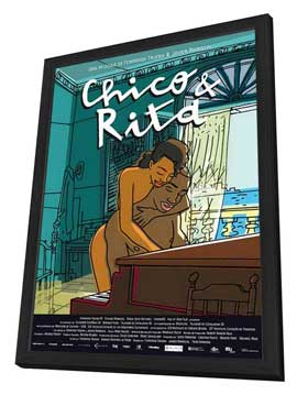 Chico & Rita - 27 x 40 Movie Poster - Spanish Style A - in Deluxe Wood Frame