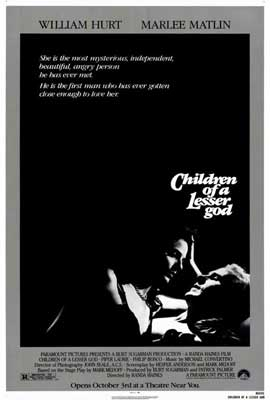 Children of a Lesser God - 27 x 40 Movie Poster - Style A