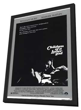 Children of a Lesser God - 11 x 17 Movie Poster - Style A - in Deluxe Wood Frame