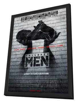 Children of Men - 11 x 17 Movie Poster - Style K - in Deluxe Wood Frame