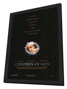 Children of Men - 27 x 40 Movie Poster - Style A - in Deluxe Wood Frame