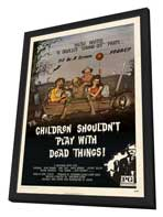 Children Shouldn't Play With Dead Things - 27 x 40 Movie Poster - Style A - in Deluxe Wood Frame