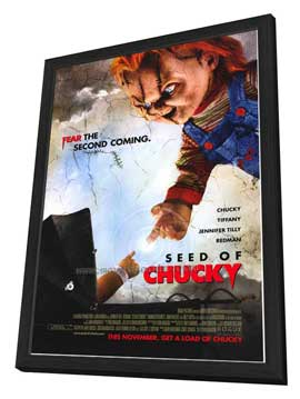 Child's Play 5: Seed of Chucky - 27 x 40 Movie Poster - Style B - in Deluxe Wood Frame